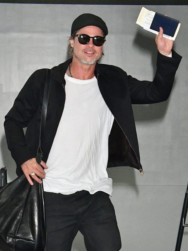 Brad Pitt Black Leather Jacket