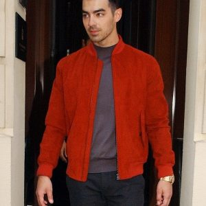 Joe Jonas Suede Jacket