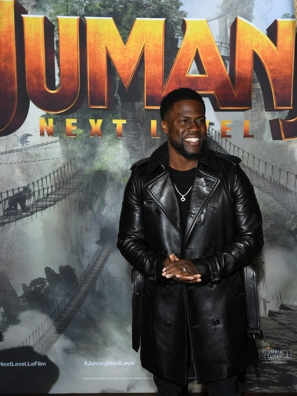 Jumanji Premier Kevin Hart's Leather Coat