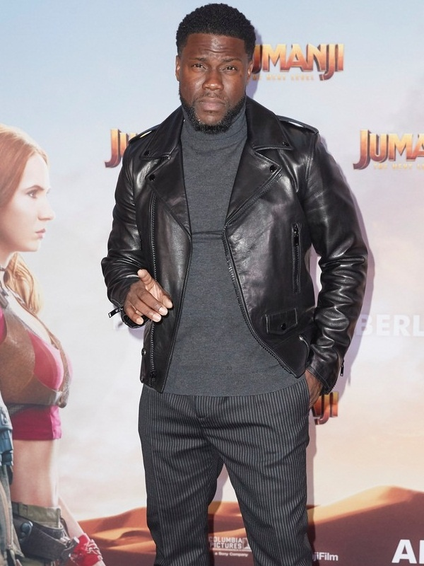Jumanji Premier Kevin Hart's Leather Jacket