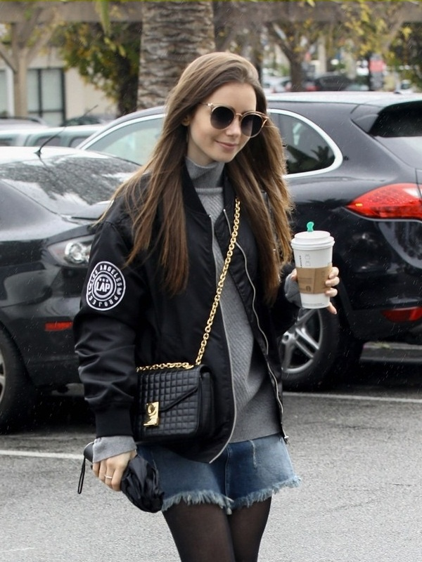 Lily Collins Jacket