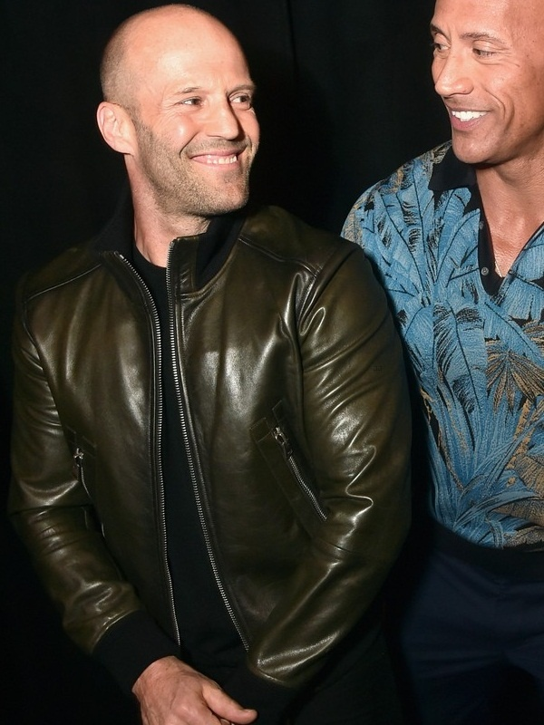 Movie Hobbs & Shaw Jason Statham Brown Jacket