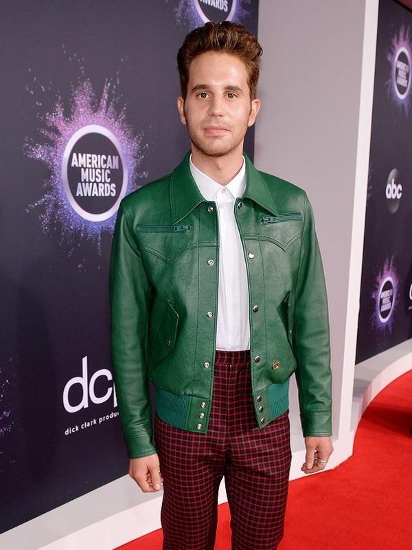 American Actor Ben Platt Leather Jacket