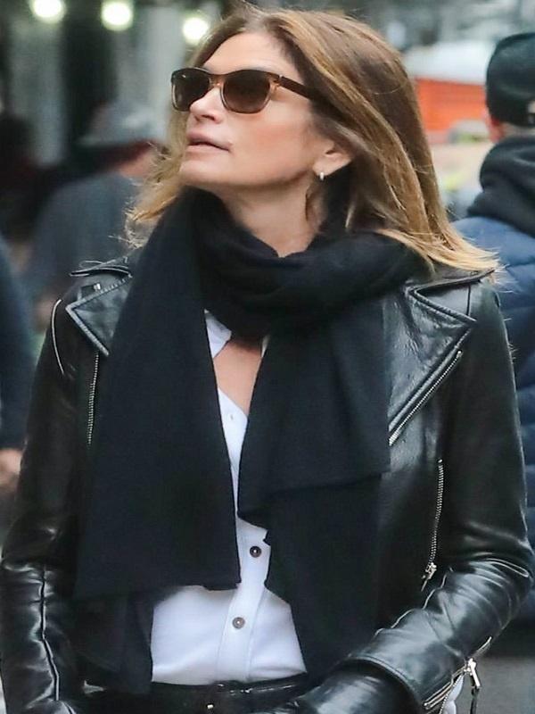 Cindy Crawford Black Leather Jacket