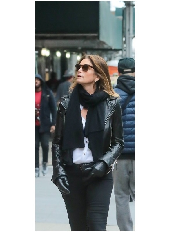 Cindy Crawford Leather Jacket