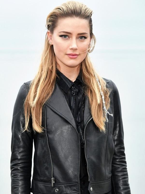 Hollywood Actor Amber Heard Jacket