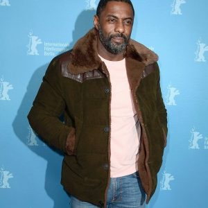 Idris Elba In Beautiful Suede Leather Jacket