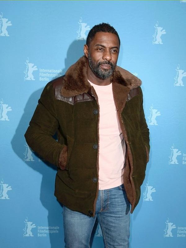 Idris Elba In Beautiful Suede Leather Jacket