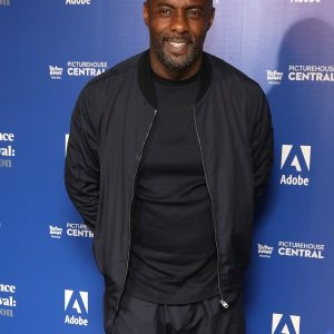 Idris Elba In Fleece Fabric Style Jacket