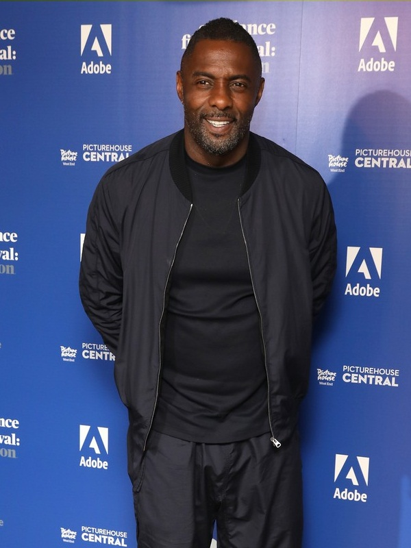Idris Elba In Fleece Fabric Style Jacket