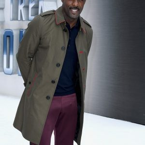 Idris Elba In Lovely Cotton Coat