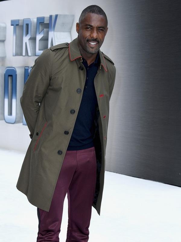 Idris Elba In Lovely Cotton Coat