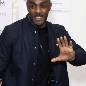 Idris Elba In Lovely Suede Leather Jacket