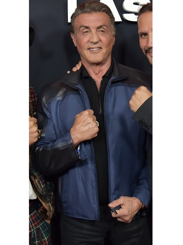 Sylvester Stallone Black Blue Jacket