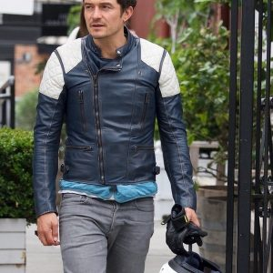 Orlando Bloom Motorcycle Leather Jacket