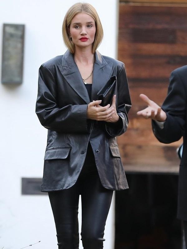 Rosie Huntington Whiteley Leather Jacket