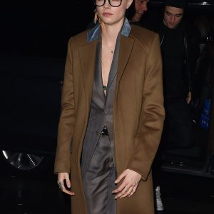 Cara Delevingne Brown Trench Jacket