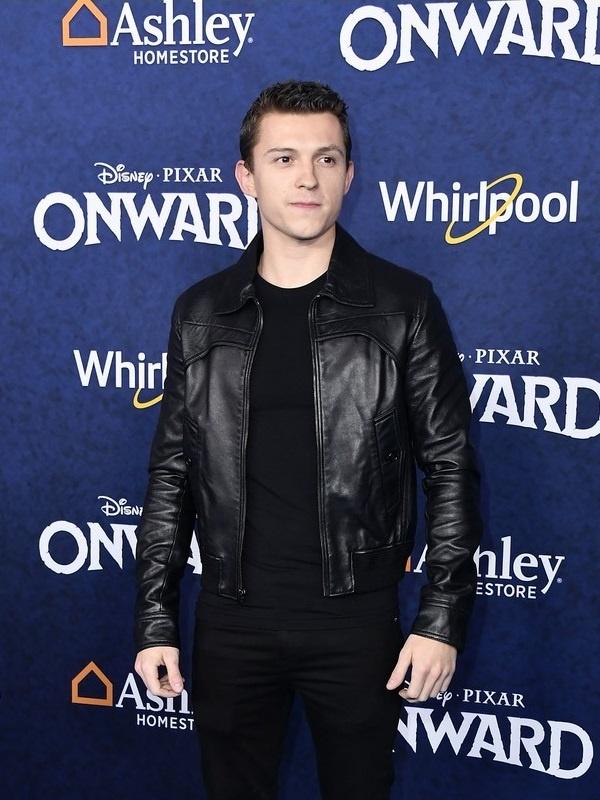Movie Onward Tom Holland Black Jacket